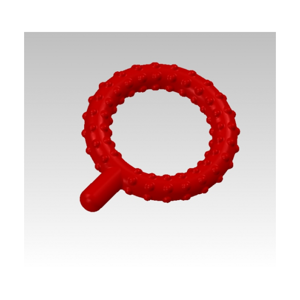 Chewy Tubes Rød Q med dupper